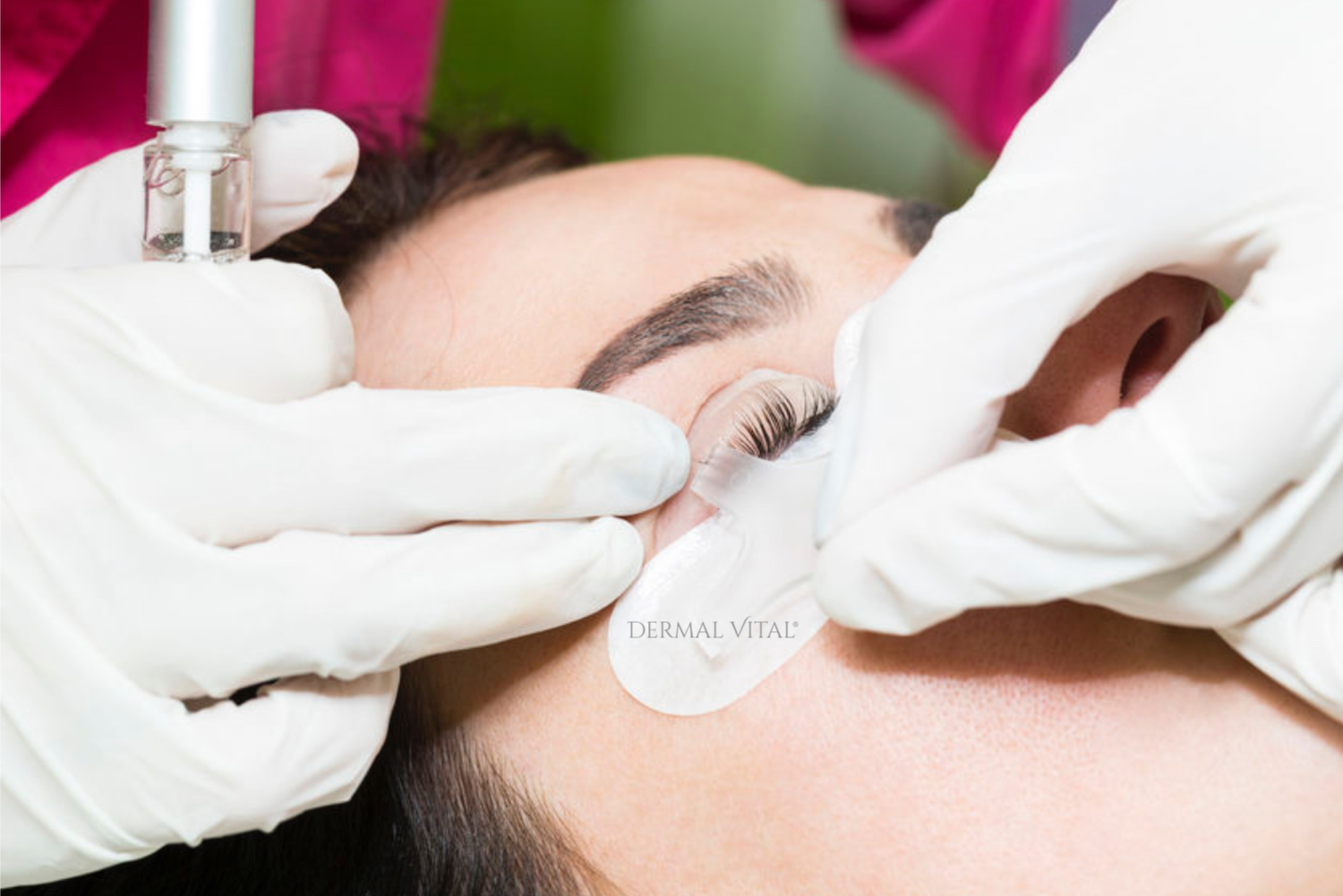 Wimpernlifting Y Applikator in Anwendung