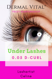 Under Lashes mit 0.05 D-Curl Extensions