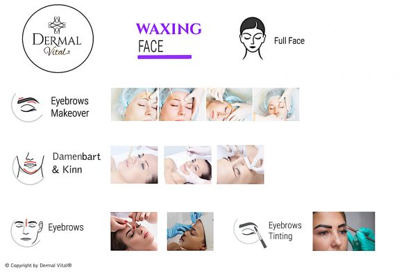 Collage fürs Face Waxing