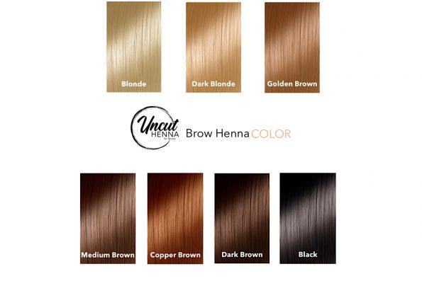 Farbpalette für Brow Henna