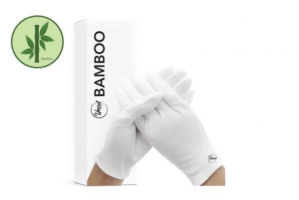 Ein Paar Bamboo Pflegehandschuhe