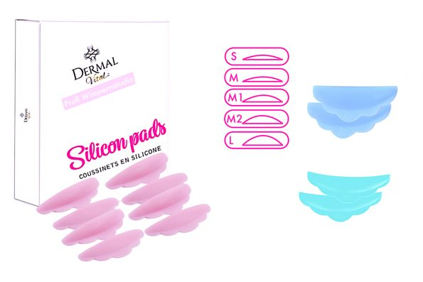 Siliconpads Wimpernlifting in drei Farben