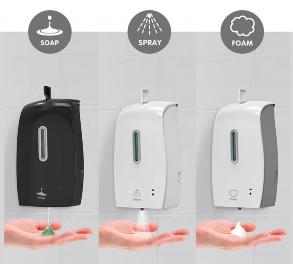 Desinfektionsmittelspender in drei Varianten