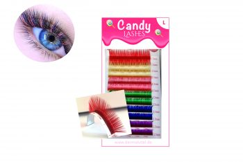 Farbige Wimpern L-Curl Candy Lashes
