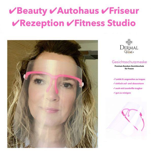 Gesichtsschutzmaske, Farbe pink