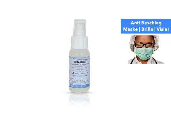 Eine Flasche Anti Beschlag für Masken