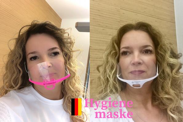 Hygienemaske weiss Mundschutz plexiglas
