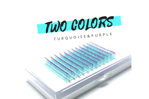 Farbige Wimpern two color lashes