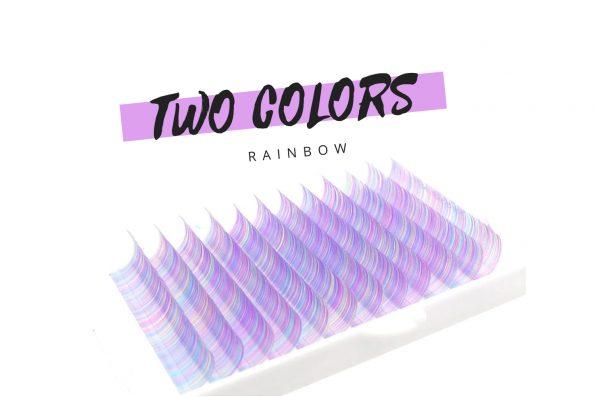 Farbige Wimpern Two color Regenbogen