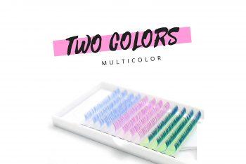 Farbige Wimpern multicolor
