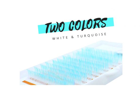 Farbige Wimpern Two Colors weiss türksi