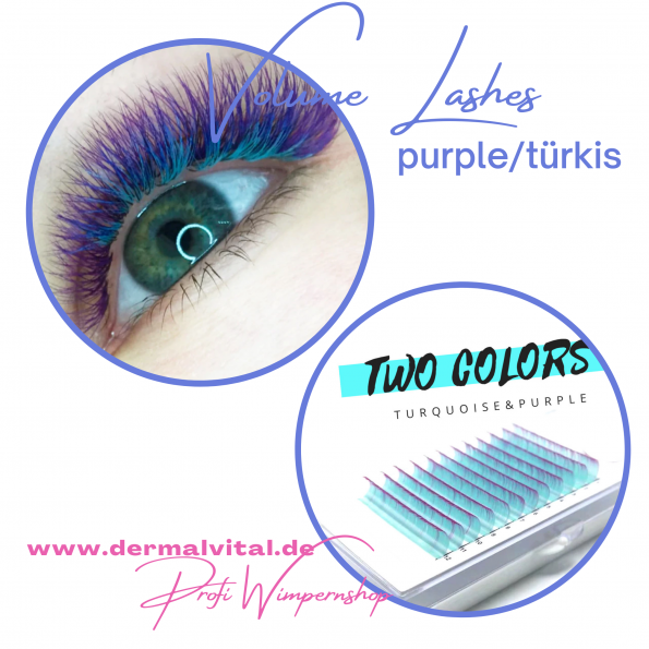 Farbwimpern, Colored Lashes, Candy Lashes