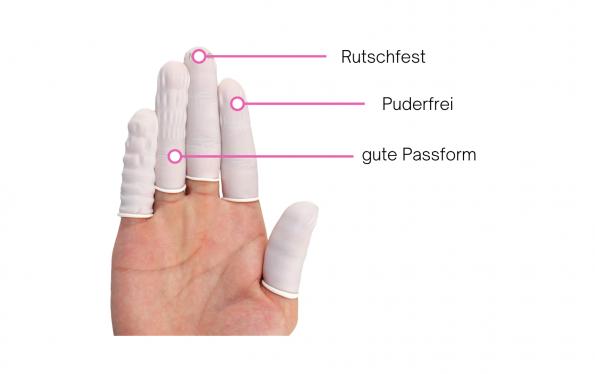 Fingerlinge, Finger Hygienekappen